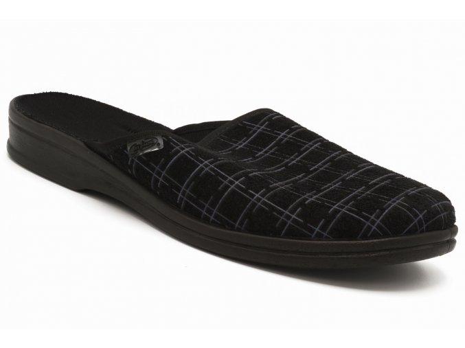 Pánské pantofle fialová kostka 1