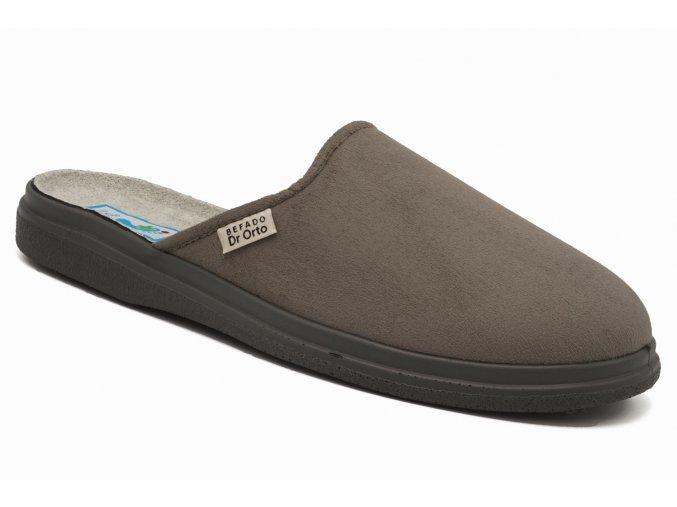 Diabetické pantofle šedé 1