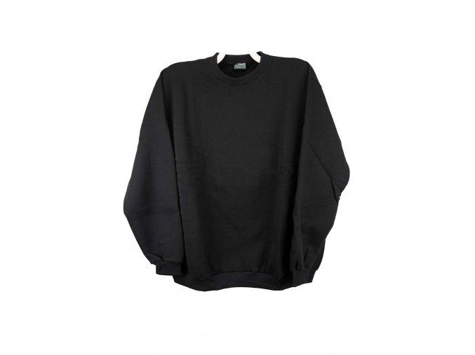 mikina pánská ke krku černá bavlna
