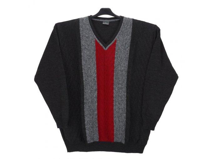 Pánský svetr antracit s melírem V