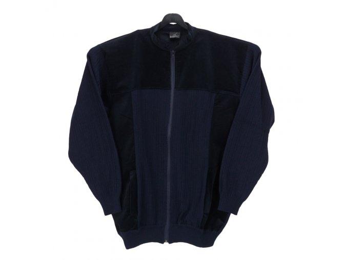 Pánský svetr bunda s kapsami modrá