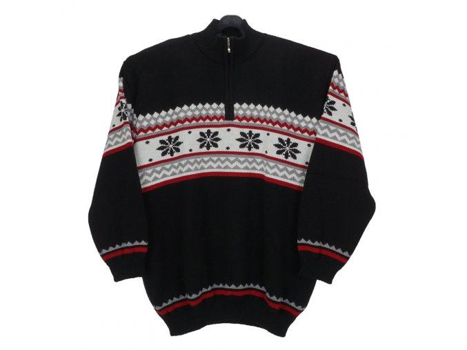Pánský svetr s norskými vzory vločka