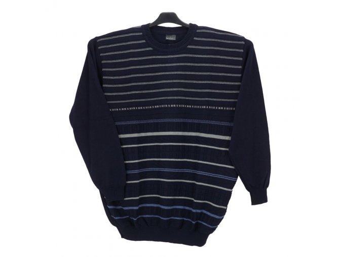 Pánský svetr modrý vzorovaný U