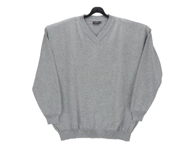Pánský svetr šedý melír hladký V
