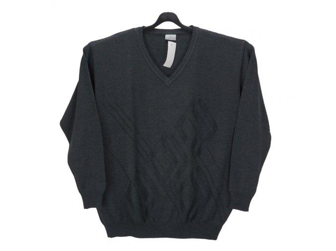 Pánský svetr tmavě šedý vzor V