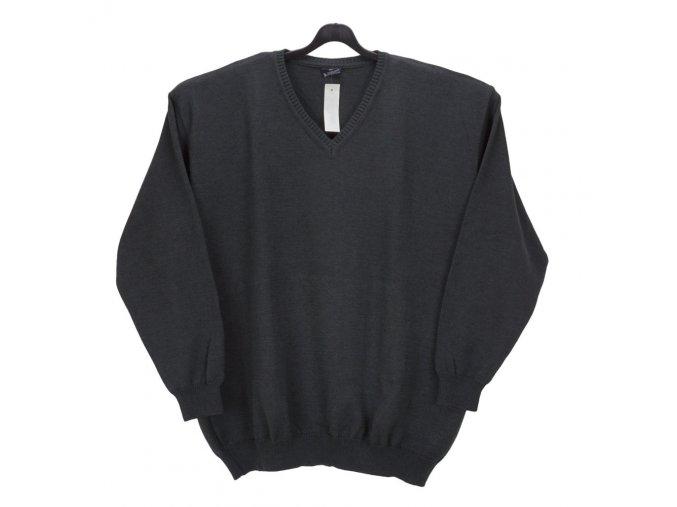 Pánský svetr tmavě šedý hladký V