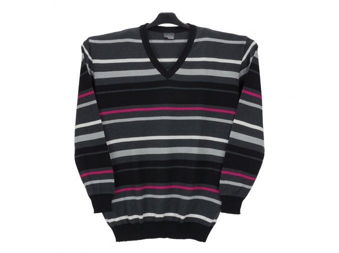 Pánský svetr s barevnými pruhy V