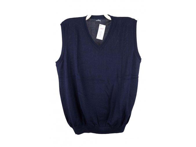 Pánská vesta modrá hladká V