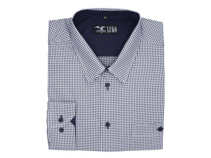 Pánská nadměrná košile modro bílá s tečkou D 1