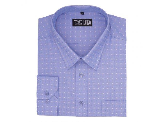 Pánská nadměrná košile světle modrá dvě kostky D 1