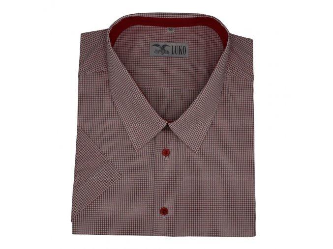 Pánská košile červená kostka K 194113 1