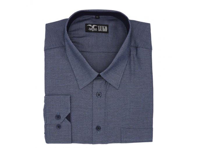 Pánská nadměrná luxusní košile modrá bavlna D1 192118