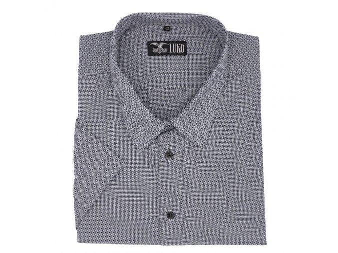Pánská košile tmavě modrá s bílou kostičkou K1 204104