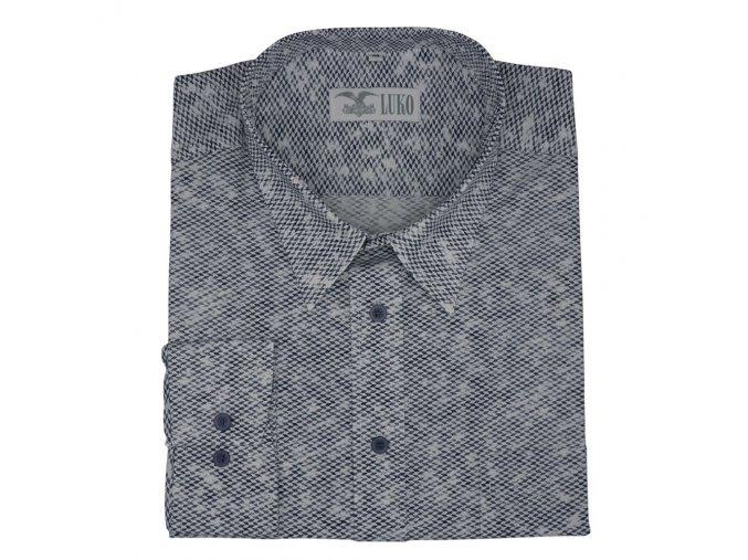 Pánská košile s plastickým vzorem šedá D 192214 1