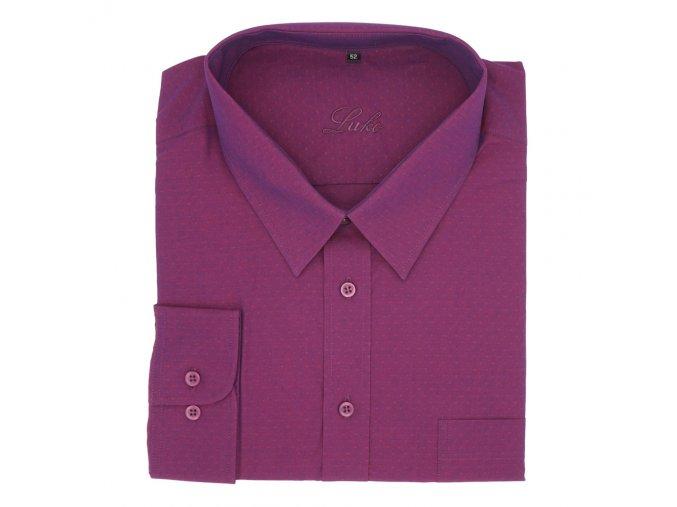Pánská nadměrná košile fialová luxus D 1