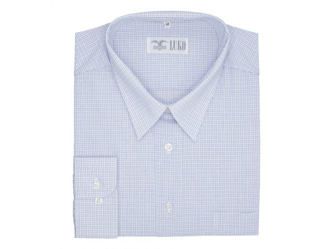 Pánská nadměrná košile jemné modré káro D1