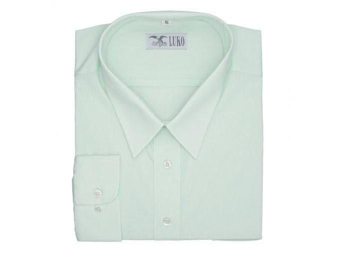 Pánská nadměrná košile světle modrá hladká D1