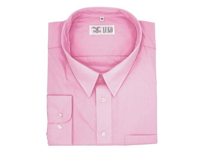 Pánská nadměrná košile sytě růžová D1
