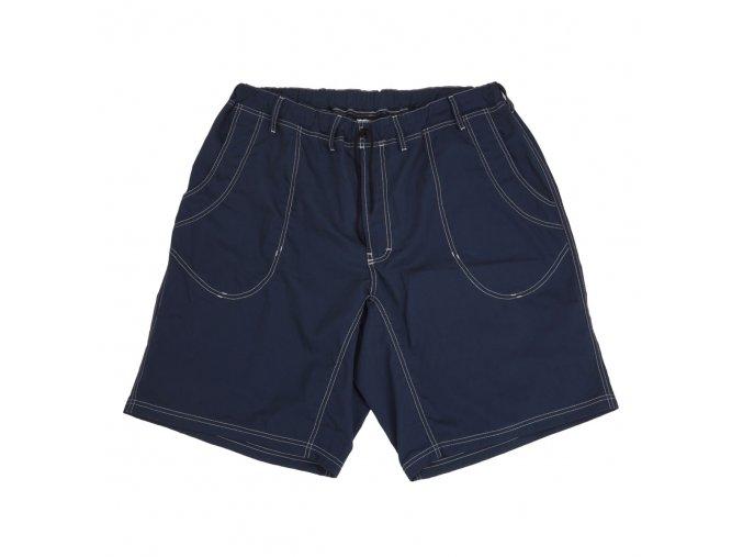Pánské šortky modré s bílou nití 1