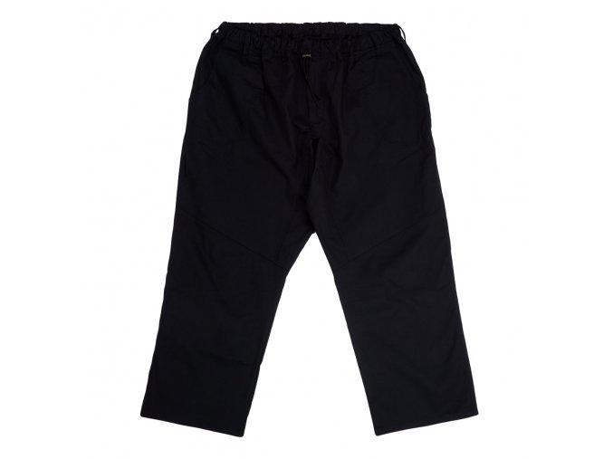 Pánské letní černé kalhoty do gumy 1