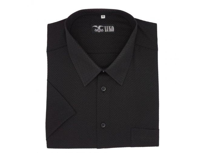 Luxusní černá košile K1 204117