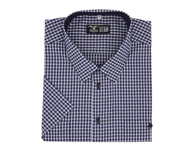 Pánská košile modrá kostka K1 204106