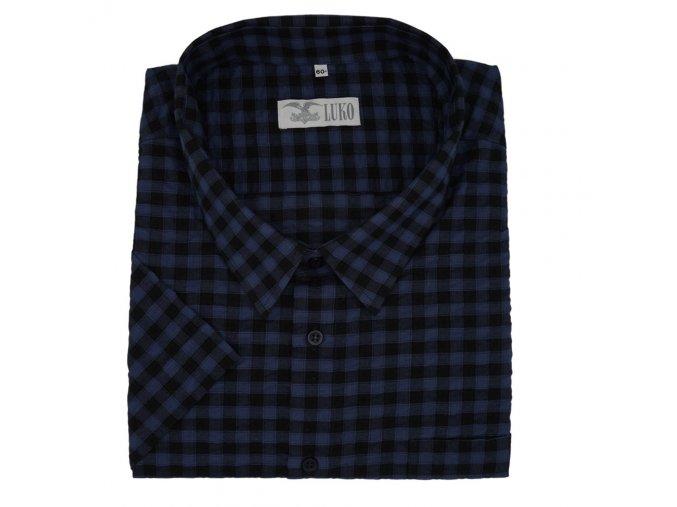 Pánská luxusní MAXI FRIM košile modrá kostka K KM973 1