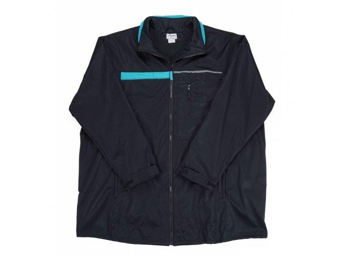 Pánská bunda soft FRIM černá tyrkys 1