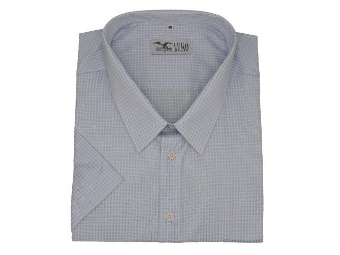 Pánská košile světle modrá kostička K 154150 1