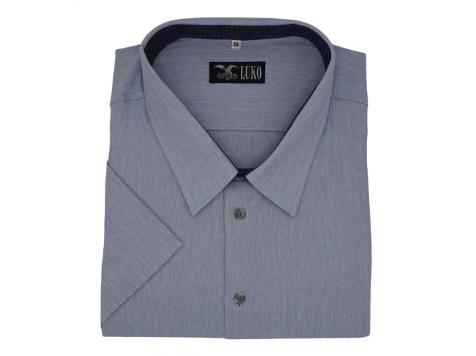 Pánská košile modrá režný vzor K 154150 1