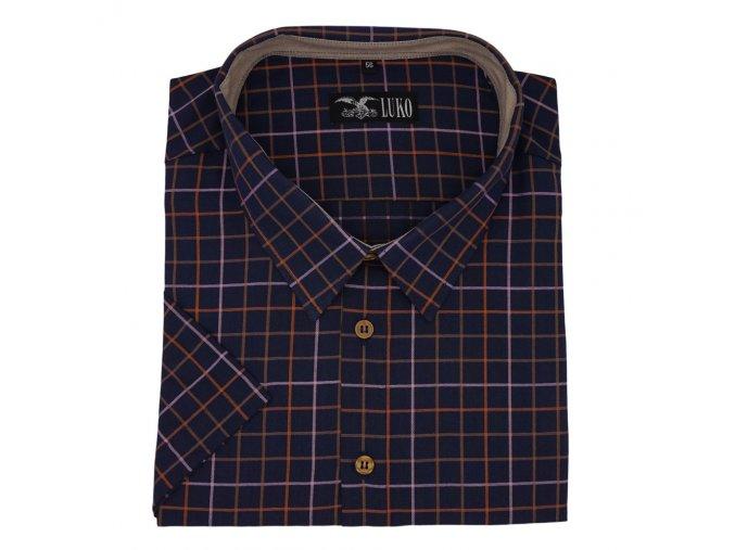 Pánská košile tmavá švestka K 154150 1