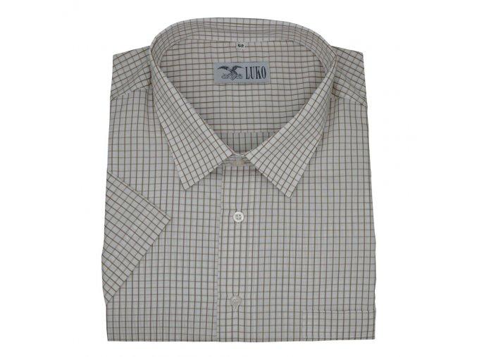 Pánská košile hnědé kárování K 154150 1