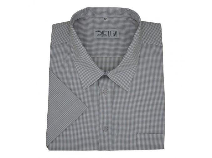 Pánská košile s jemnou šedou kostičkou K 154150 1