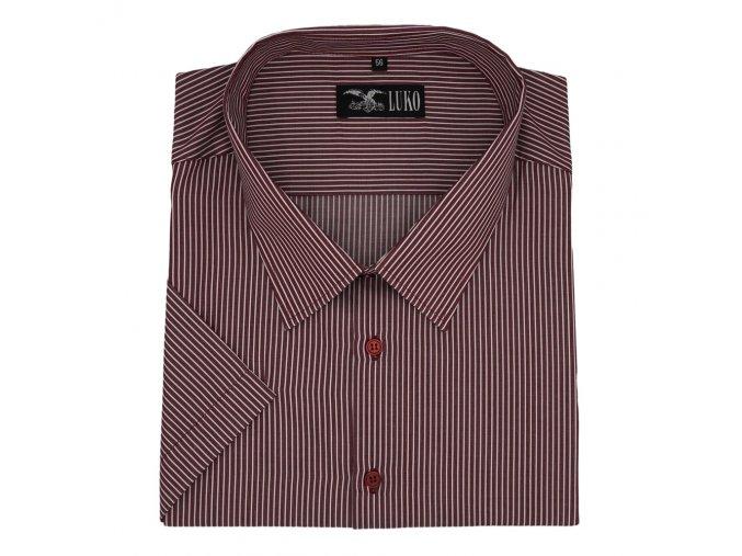 Pánská košile s bordó proužky K 154150 1