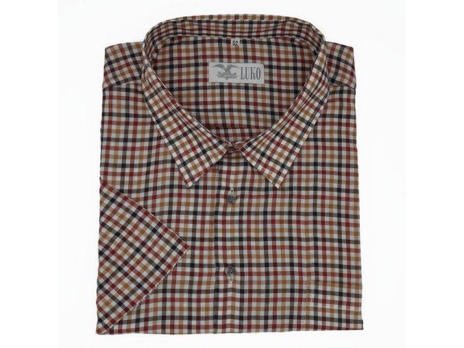 Pánská košile hnědé kostky K 204119 1