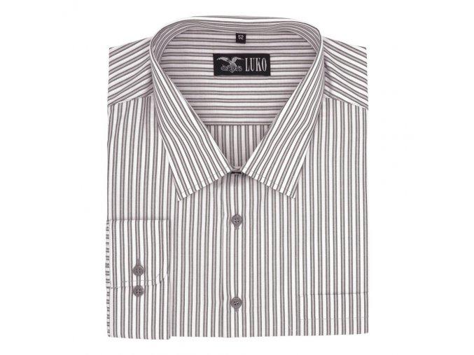 Pánská košile s šedými proužky D 112201 1