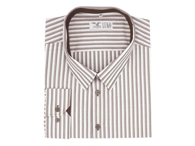 Pánská košile s bordó proužky D 132208 1