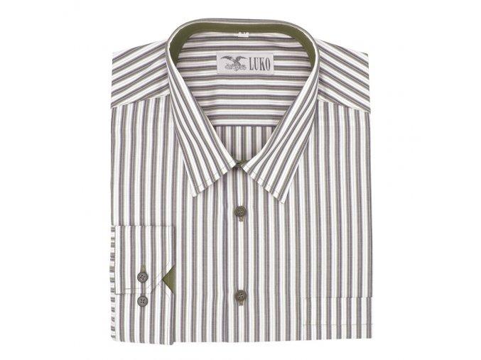 Pánská košile se zelenými proužky D 132208 1