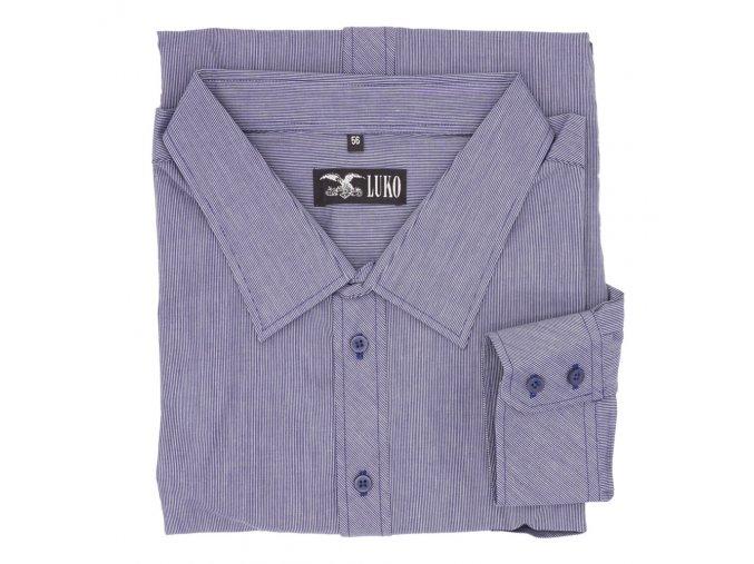 Pánská košile modrý mini proužek D 142207 1