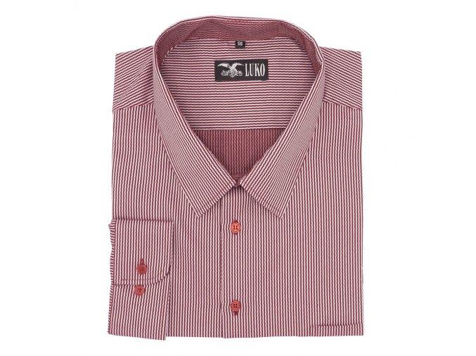 Pánská košile červená vlnka D 142201 1