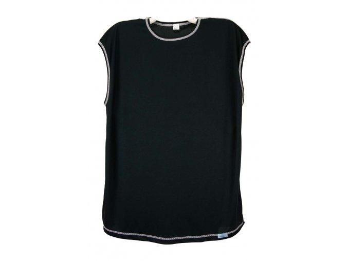 Tričko funkční bez rukávů pánské černé