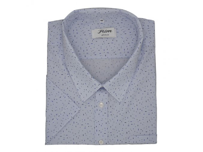 Pánská světle modrá košile se vzorkem MAXI FRIM K MM6040 1