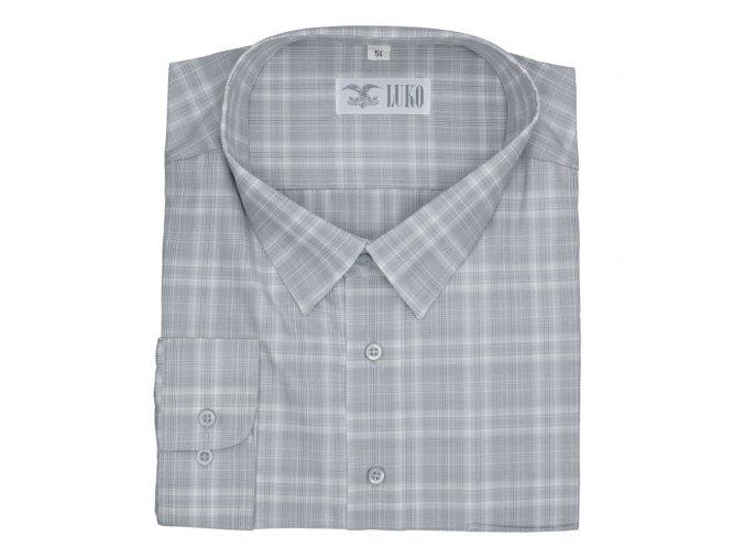 Pánská košile šedá jemné káro D 092218 1