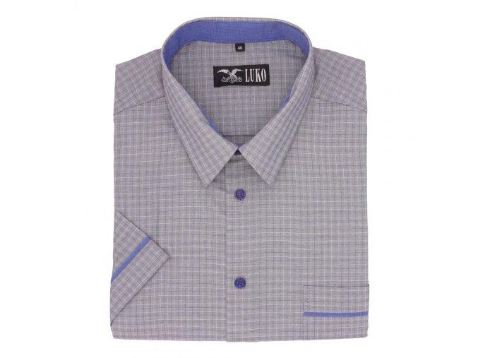 Pánská košile modré knoflíky a lem K 174105 1