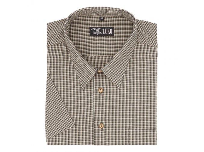 Pánská myslivecká košile zelená kostička K 074137 1