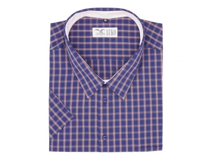 Pánská košile modrá pásek fial K 144106 1