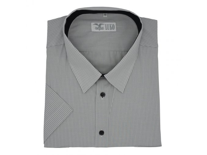 Pánská košile jemná sedá kostička K 194113 1