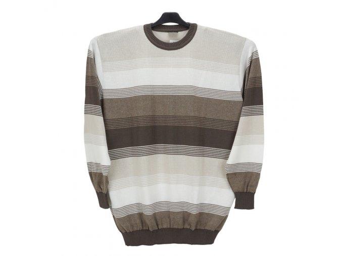 Pánský svetr oříšek smetana U