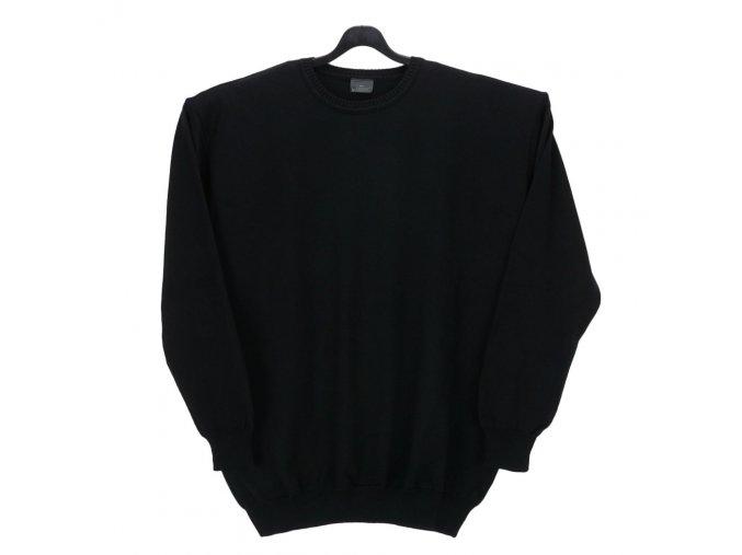 Pánský svetr černý hladký U