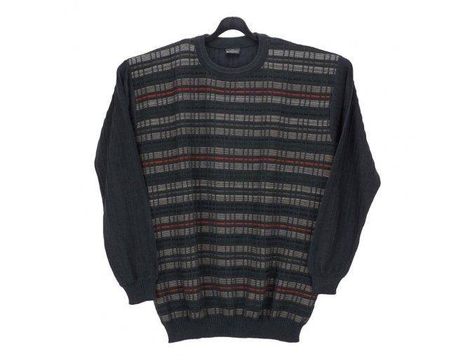 Pánský svetr šedý vzorovaný U